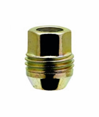 "White Knight 2007S-4 Zinc Gold (3/4"" Hex Size) Open End Dual Thread Lug Nut - 4 Piece"