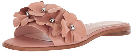 Avec Les Filles Women's BAHA Flat Sandal, Papaya Patent, 8 M US