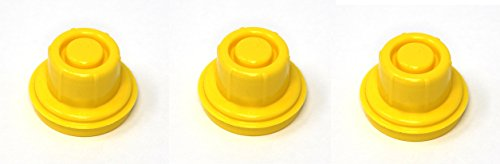 3 Pack Replacement Yellow SPOUT CAPS Top Hat Style fits # 900302 900092 Blitz Gas Can Spout Cap fits self Venting Gas can Aftermarket (SPOUTS NOT Included)
