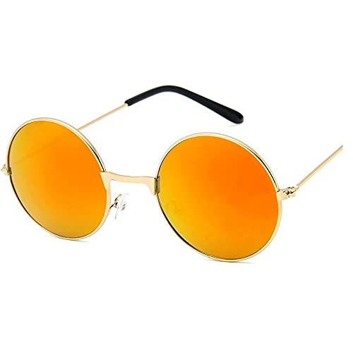 IRCATH Gafas de Sol Redondas para Mujeres Moda Clásico Dazzling Mirror Rose UV400 Adecuado para la conducción en la Playa y el Senderismo se Puede Utilizar para la Pesca de Golf-C7 Adecuado para Cami