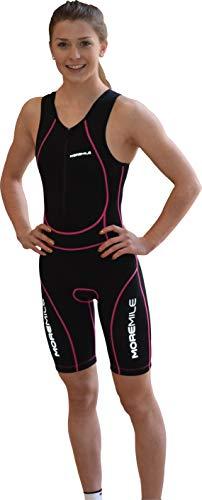 More Mile Damen Sonic gepolsterter Triathlon 3-Anzug Gr. Medium, schwarz / pink
