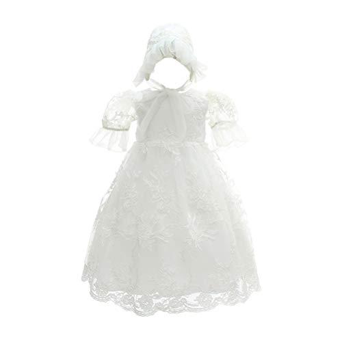 Zhhlinyuan Bébé Filles Robe de Princesse Manche Courte Robe de Fête d'anniversaire Mariage Robe - 0-24 Mois Formelles Robe de Baptême Fleur Tutu Jupe