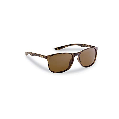 Flying Fisherman 7886TA UNA Polarized Sunglasses, Matte Tortoise Frame, Amber Lens
