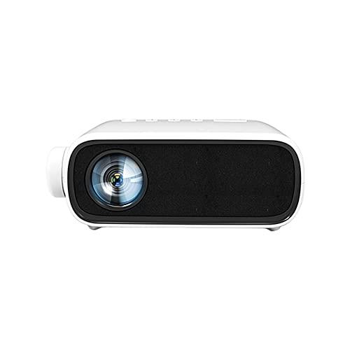 Xyfw Mini Proyector LED 480 * 272 Píxeles con Interfaz HDMI/USB/AV/Audio Proyección Portátil Reproductor Multimedia Doméstico,Blanco