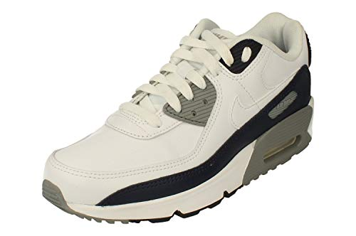 Nike Air Max 90 LTR Big Kids' Shoe, Scarpe da Corsa Unisex-Adulto, White/White-Particle Grey-Obsidian, 39 EU