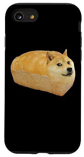 iPhone SE (2020) / 7 / 8 Doge WOW in Bread Meme Shiba Inu Funny Happy Shiba Inu Dogo Case