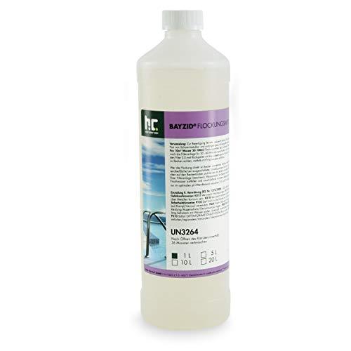 Höfer Chemie 15x1 L Pool Flockungsmittel flüssig BAYZID kristallklares Poolwasser - einfache Anwendung + hocheffektive Wirkung gegen Trübungen