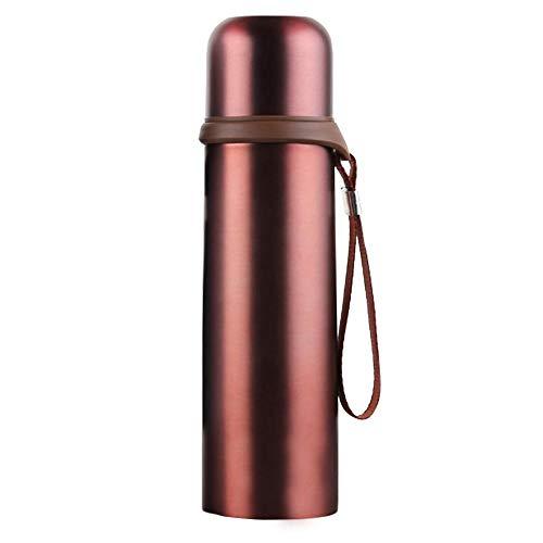 myonly Termo Térmico para Termo líquido Taza de Acero Inoxidable con diseño de vacío, 500 ML