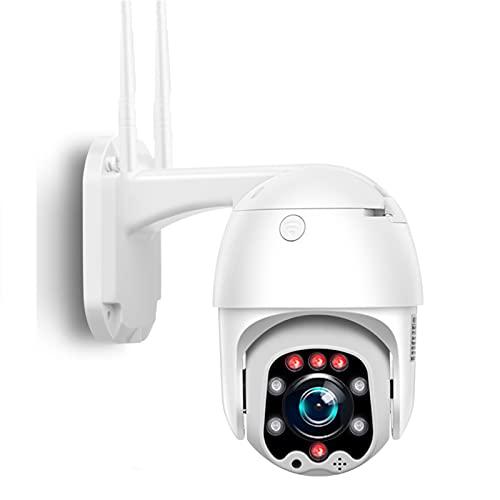 Cámara IP 1080P, 5X Zoom HD PTZ Cámara de seguridad inalámbrica para exteriores Vigilancia de domo Cámara inteligente de visión nocturna P2P,4g,Cam+32G