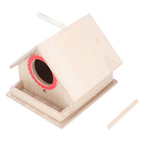 HERCHR Casette per Uccellini in Legno Casetta per Uccelli per nidi di Uccelli Esterni Casetta di Alimentazione con Corda appesa Giardino all'aperto