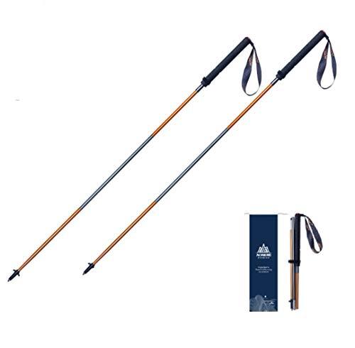 baston de trekking extensible acero Bastones De Trekking Ligeros y Plegables,Longitud De Aluminio 120 Cm Para Caminar, Escalar, Enviar pares