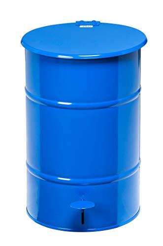 Afvalbak vuilnisbak 30 l | Afvalbak retro design met voetpedaal voor het openen van het deksel – gemaakt van gegalvaniseerd plaatstaal