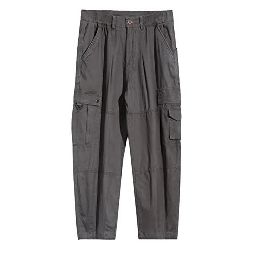Feidaeu Pantaloni Cargo per Uomo Autunno Street Hip-Hop Harajuku Style Pantaloni Larghi Dritti a Gamba Larga Pantaloni Resistenti all'Usura