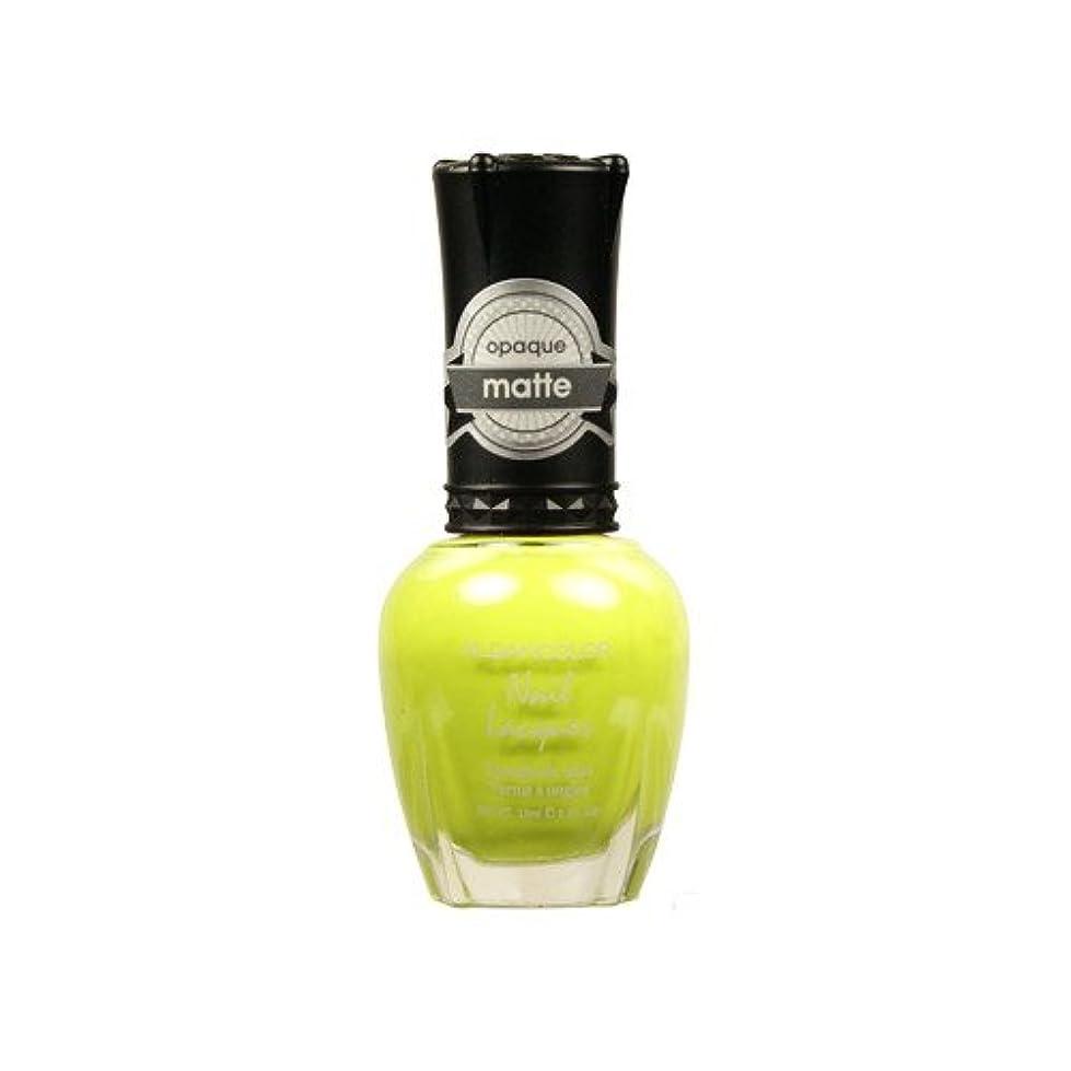 オアシス正しく大いに(3 Pack) KLEANCOLOR Matte Nail Lacquer - Lime Tickle (並行輸入品)