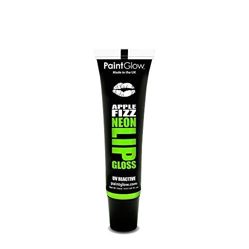 Paintglow UV Neon Gloss A Lèvres Brillant Sous Les Néons Fruité 15ml Vert (Apple Fizz - Pomme)