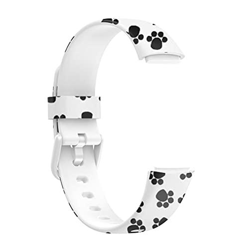 Auplew Correa de reloj con impresión compatible con Fitbit Luxe, correa de repuesto suave de TPU para reloj inteligente resistente al agua