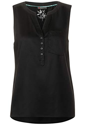 Street One Damen Blusentop in Unifarbe Black 44