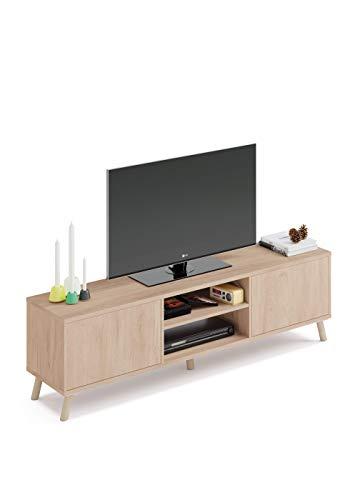 Mueble TV n贸rdico de madera