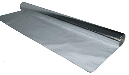 250sqft (4ft Wide) of NASA TECH Commercial Grade Solid White Finish Non Perforated No Tear Green Energy Radiant Barrier Reflective Insulation Solar Attic Foil Roof Attic House Wrap SCIF RIFD by AES