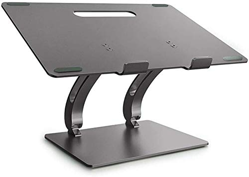 WJJ Soporte Para Laptop Portátil Reclinable Aluminio Portátil Portátil Ventilado Laptop Montaje De Elevador Con Silicona Antideslizante Plegón Plegón Compatible Con 11 '-17' 'Tabletas MacBook IPad, Po