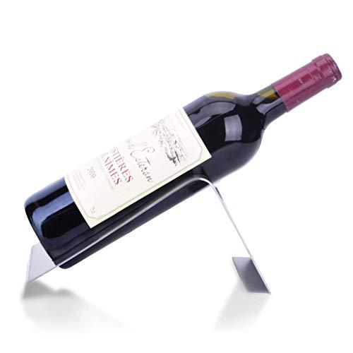 DAKEUR Soporte de Botella de Vino Moderno, Estante de Vino de Botella Individual de Mesa de Acero Inoxidable novedoso, Soporte de exhibición de Estante de Botella de Vino de Servicio, decoración de