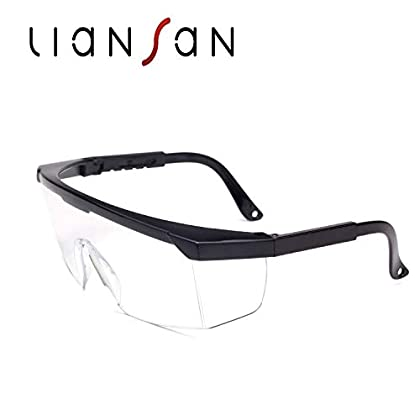 Gafas de seguridad transparentes con gafas de correa Virus de protección médica para los ojos Anti niebla (style1)