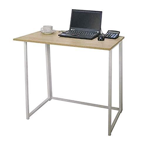 Saving Plus Computer Desk Compact Foldable Computer Desk Laptop Desktop Table Folding Portable Small Table for Company,Home,Office OAK