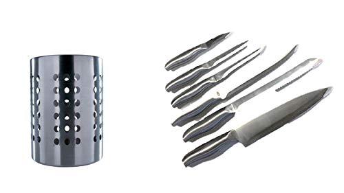 I IKEA Ordning – Besteck Ständer, Edelstahl + Edelstahlmesser Schälmesser + Gemüsemesser + Ausbeinmesser + Tranchiermesser+Brotmesser+Kochmesser