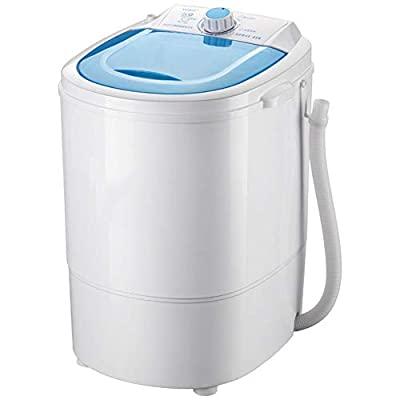 PIGE Miniature mini semi-automatic washing machine, portable compact design with timing function Blu-ray antibacterial 4.5kg washing capacity Suitable for bedroom Living room Balcony Bathroom