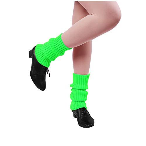 Nanxson Damen Beinwärmer Kurz Beinstulpen Winter Warm Socken Stulpen TTW0004 (fluorescein grün