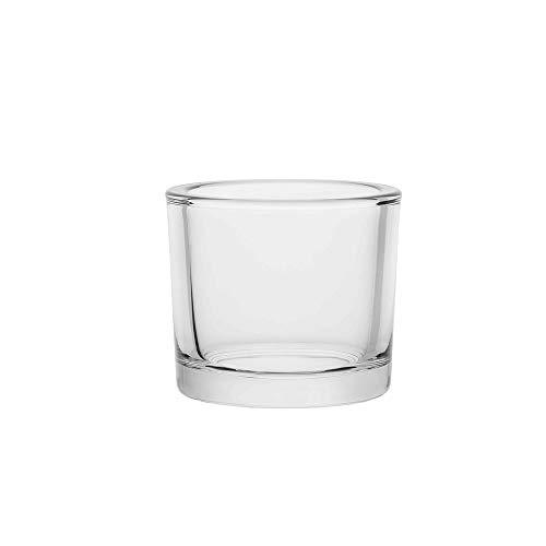 AmazonCommercial Glass Candle Holder, 8.4 oz., Set of 6
