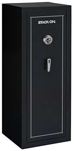 Stack-On SS-16-MB-B 16-Gun Security Safe with Biometric Lock, Matte Black