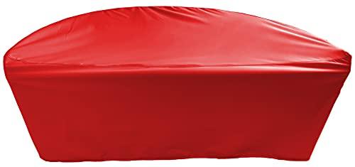 Lona de protección para muebles de jardín semicircular, 195 x 97,5 x 90 cm, resistencia al agua, color rojo