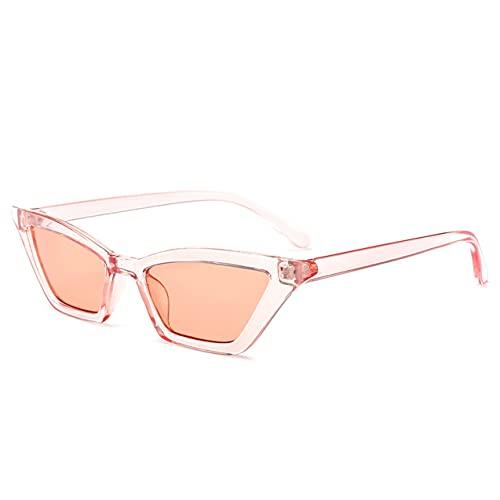 Zhou-YuXiang Gafas de Sol Retro de Ojo de Gato Puntiagudo Estrecho para Mujer Gafas de Sol polarizadas de Ojo de Gato Vintage para Mujer Lente Tintada