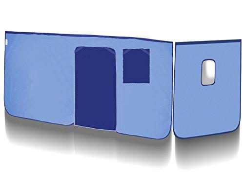 SixBros. Vorhang Hellblau/Blau für Hochbett - VH-1038