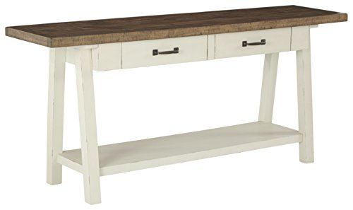 white antique console table - 4