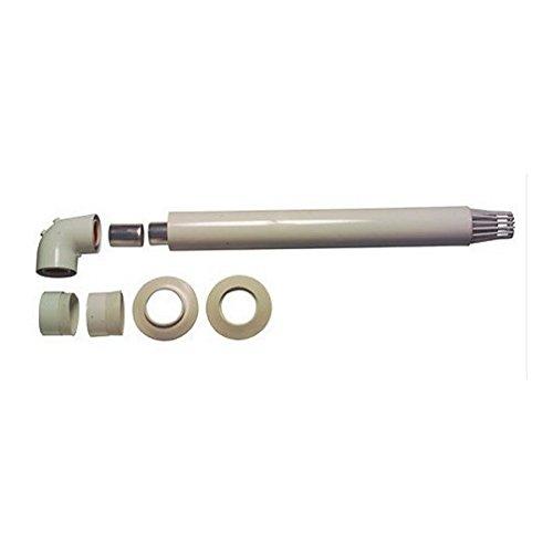 Beretta 20027555 Kit Scarico Orizzontale in PPS per Fumisteria Caldaie, Grigio