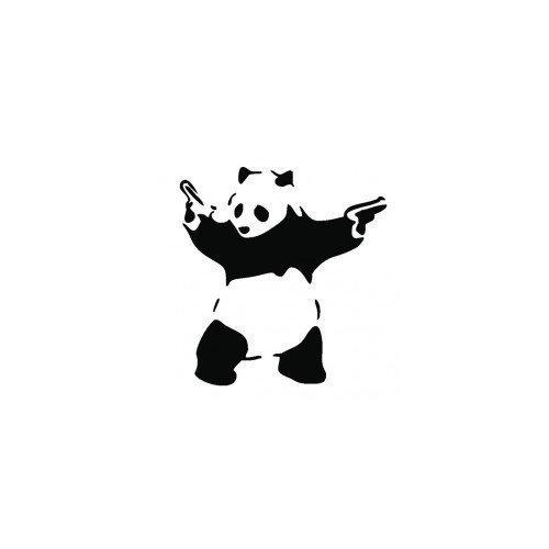 Banksy Bad Panda Graffiti Funny Symbol Bumper Sticker Car Van Bike Sticker Decal Stickers