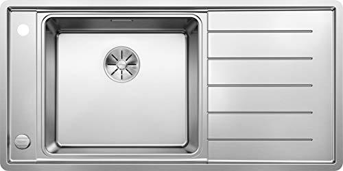 Blanco 523000andano XL 6S de If 6S Cocina Fregadero seda brillo, acero inoxidable