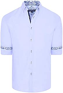 Tarocash Men's Berwick Textured Shirt Regular Fit Long Sleeve Sizes XS-5XL for Going Out Smart Occasionwear