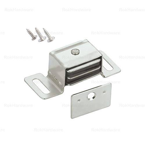 5 Pack Rok Hardware Double Side Strong Magnetic Catch Latch Cabinet Closet Drawer Doors