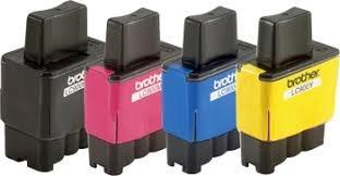 BROTHER Genuine OEM LC41 Ink Cartridges (Black, Cyan,Magenta,Yellow, 4-Pack)