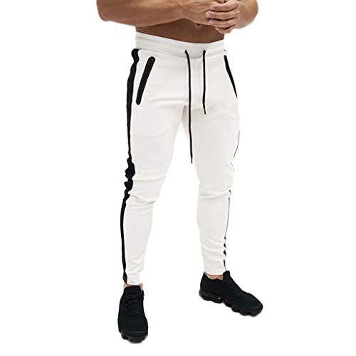SUMTTER Pantaloni Tuta Uomo Pantaloni da Ginnastica Slim Fit Pantaloni con Coulisse e Tasche Pants Moda Trousers Sportivi