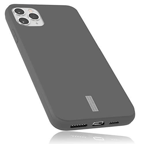 mumbi Hülle kompatibel mit iPhone 11 Pro Handy Hülle Handyhülle, grau mit grauem Streifen