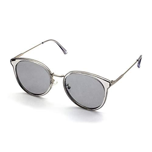 PERXEUS ADANA - Gafas de Sol para mujer. Ligeras y Resistentes - Protección UV400 + Lentes Polarizadas. [Plata (Lentes Claras)]