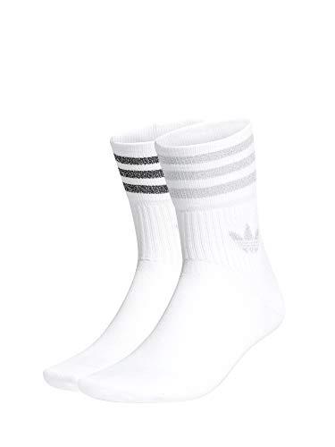 adidas GN3069 MID CUT GLT SCK Socks womens white/silver met. L