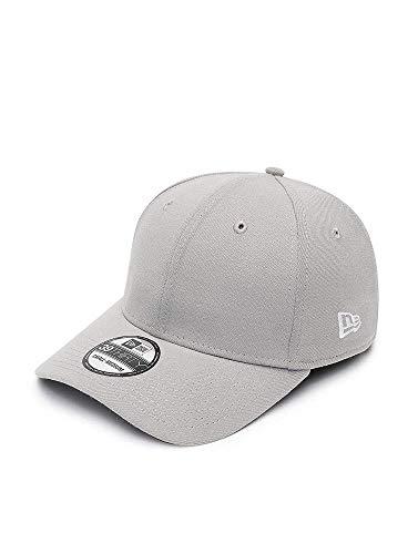New Era 39Thirty Herren-Baseball-Kappe, hinten elastisch, Herren, Ne Basic 39Thirty, Grau (grawhi)