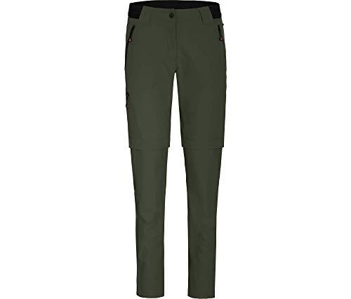 Bergson Damen Zipp-Off Hose VIDAA (Slim fit), Kombu Green [279], 46 - Damen