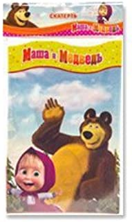 1psc Tablecloths Polyethylene Masha and the Bear's Birthday Party Favors Party Supplies
