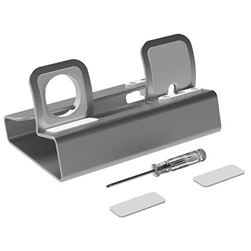 Dcolor Base de Carga con Soporte de Aluminio para Iwatch 3 en 1 Base de Carga para ProteccióN de Almohadilla de Goma Ajustable, Plateado